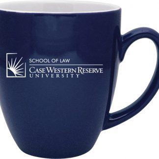 Duo-Tone Bistro Mug with CWRU School of Law logo
