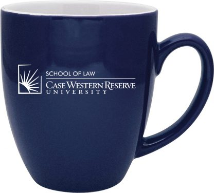 Duo-Tone Bistro Mug with CWRU School of Law logo